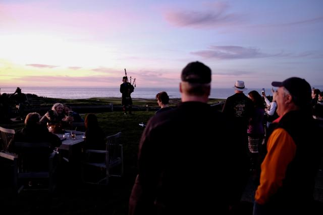 Spanish Bay Bagpiper at Sunset