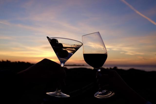 Drinks at Spanish Bay