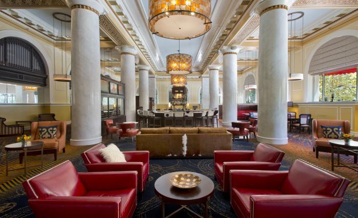 A Hotel Lobby in Houston