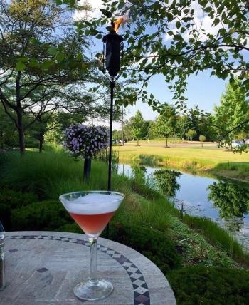 Matt the Miller's Patio Table with martini