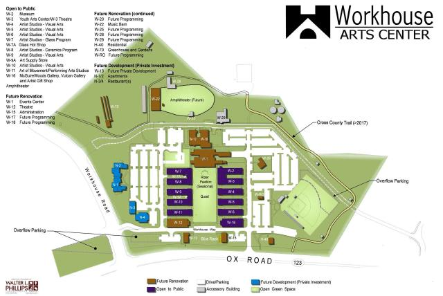 Workhouse Arts Campus Map