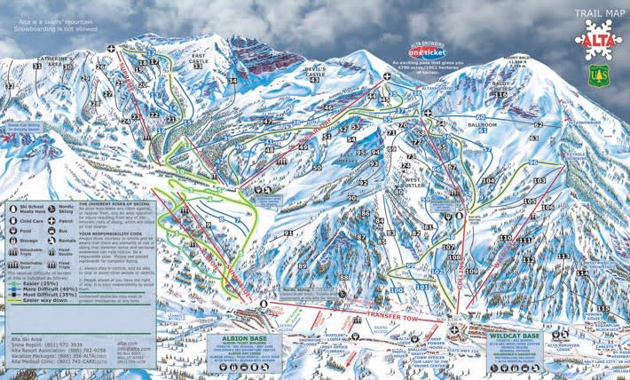 Alta Trail Map