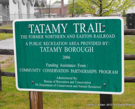Tatamy Trail Sign
