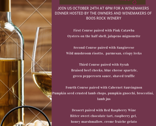 Winemakers Dinner 10/24