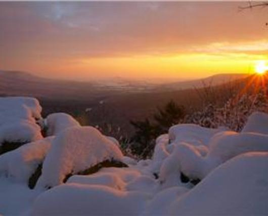 hawk mountain in winter