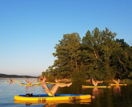 Stand Up Paddle Board Yoga at Lake Nockamixon