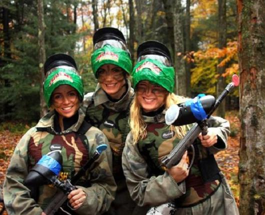 Female Paintball Players