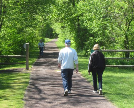 Walkers on Trail