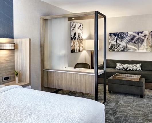 25% larger than standard hotel rooms
