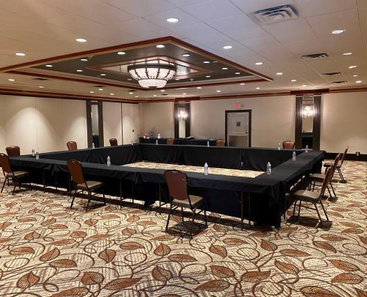 Socially Distanced Meeting Room