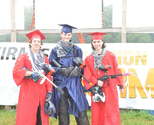 Students Playing Paintball