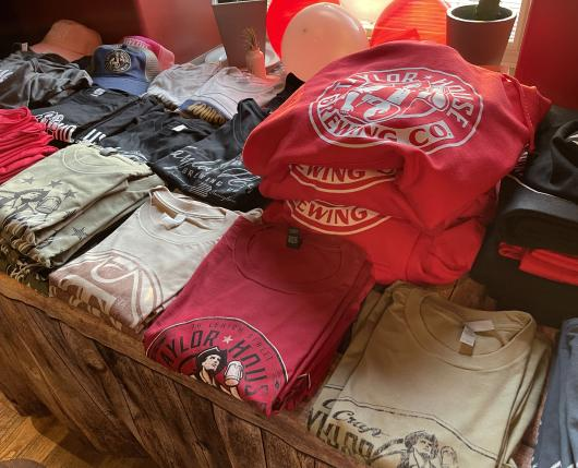 Merchandise at Taylor House Brewing