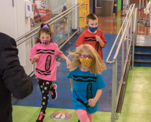 Kids Running (masks)