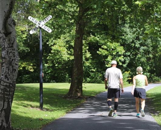Walkers on Trail