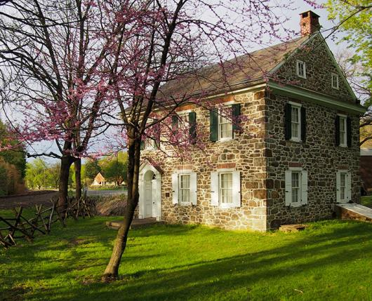 House in springtime