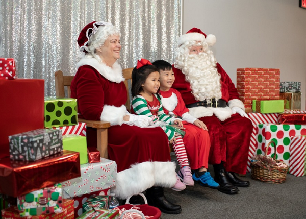Jingle Trees: Cookies with Santa event at the Houston Museum of Natural Science at Sugar Land