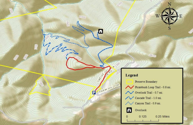 Poor Mountain Natural Area Preserve Trail Map