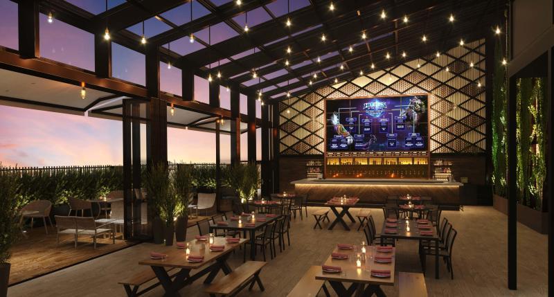 Parx Casino beer garden rendering