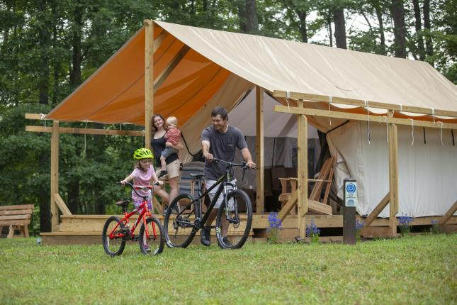 Explore Park Camping - Mountain Biking