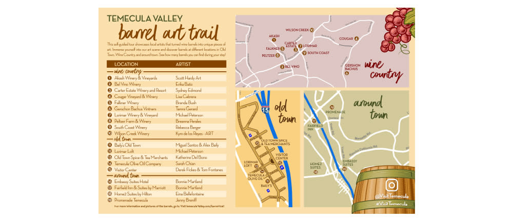 Temecula Valley Barrel Trail Map