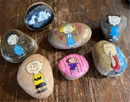 You may find one of these painted rocks by Stacey Cisewski in the Stevens Point Area.