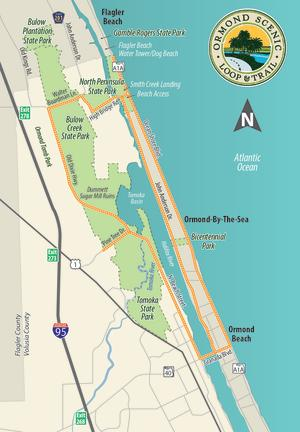 The Loop - a map of the Ormond Scenic Loop and Trail