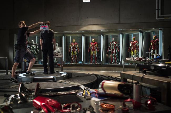 SCene from Iron Man 3 shot in Wilmington, NC