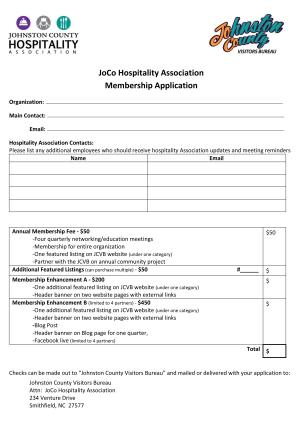 Hospitality Association Application