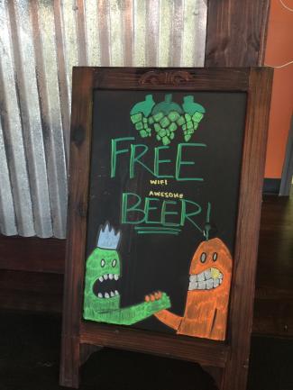 Brew Link sign