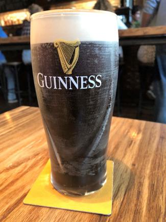 Pints&union Guinness beer