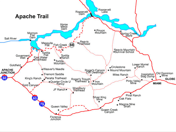 Apache Trail Map - Mesa, Arizona Maps - Mesa AZ