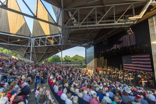 4th of July concert at Starlight Theatre