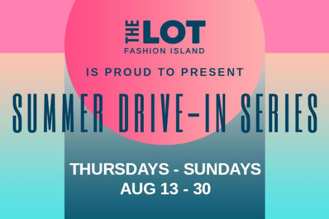 Fashion Island Summer Drive-In Movies Banner