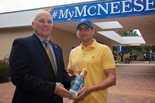 McNeese and Yellowfin Vodka