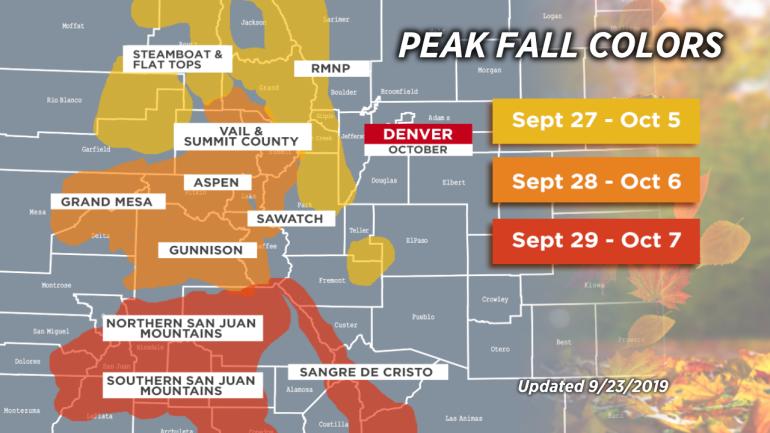 Chris Tomer 2019 Colorado fall color timeline