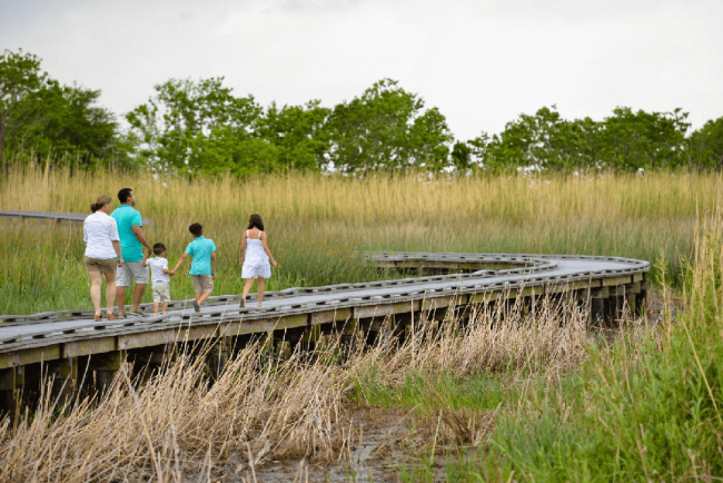 Family on the Creole Nature Trail