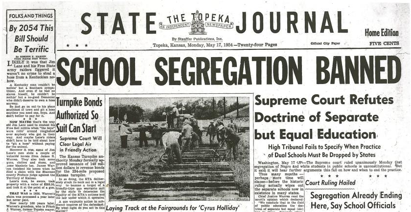 School Segregation Banned newspaper