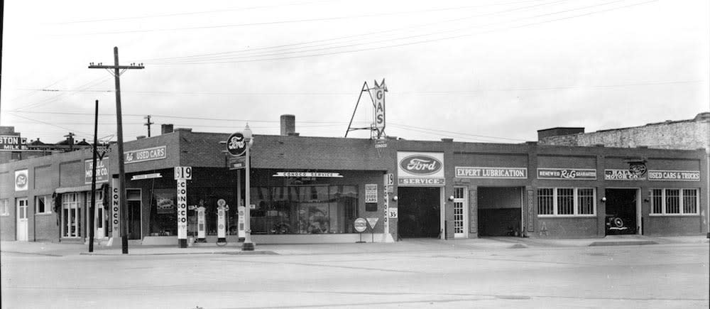 Historic photo of garage
