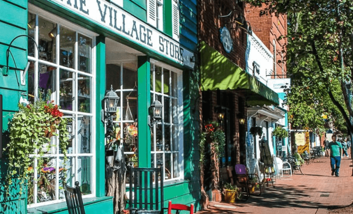 Village Store, Rocking chairs, windows