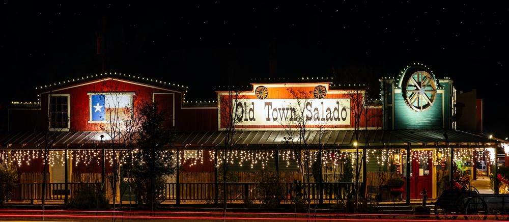 Salado texas with christmas decorations