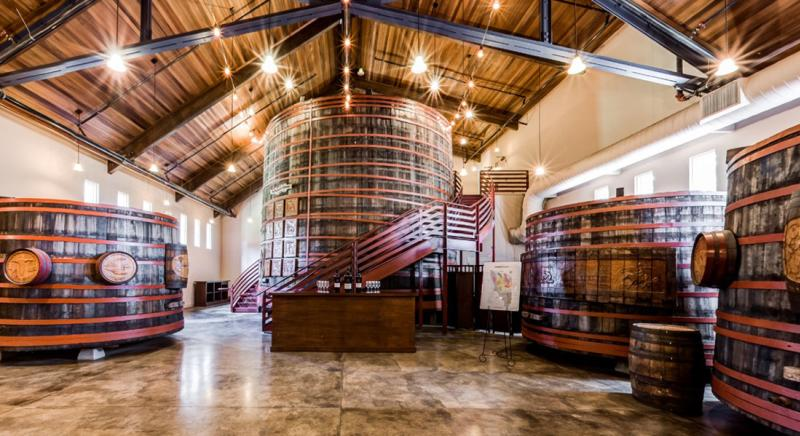 Sebastiani Winery Barrel Room
