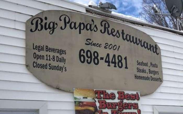 Big Papa's Sign