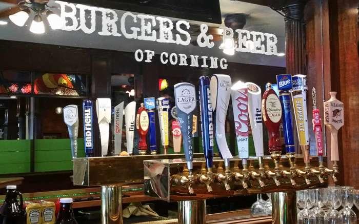 Tap Line at Burgers & Beer