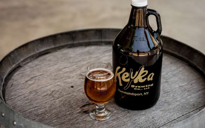 Keuka Brewing growler