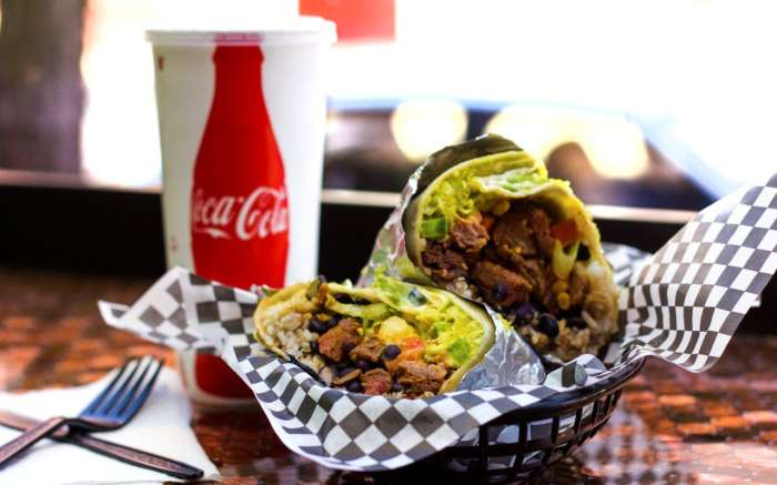 Burrito at Boomers