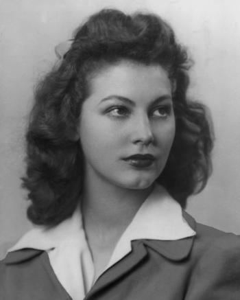 Ava Gardner as student at Atlantic Christian College, Wilson, NC.