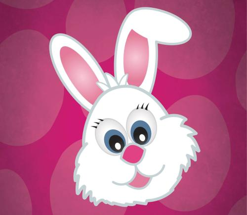 A cute bunny graphic