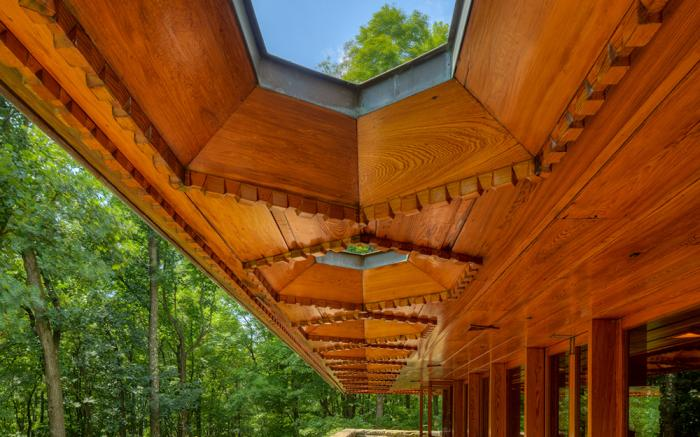Kentuck Knob Hexagon Blue Sky