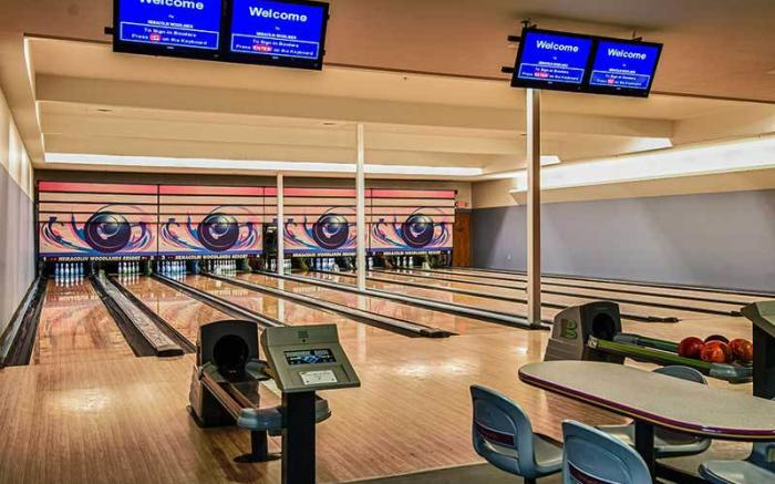 Bowling Lanes at the Sundial Lodge