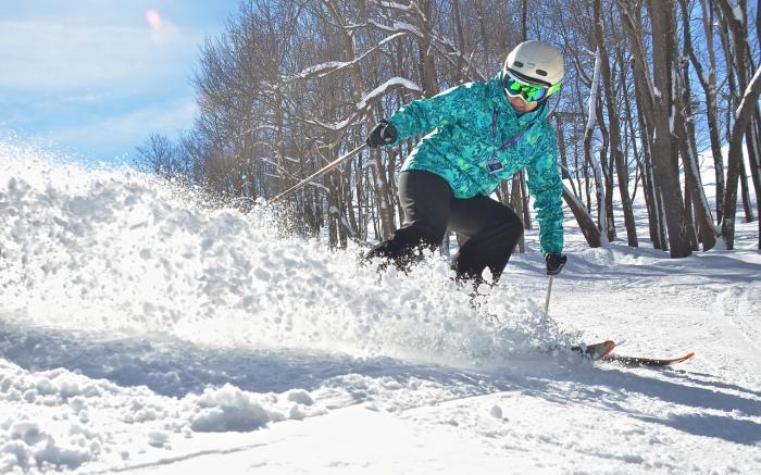 Powder skier at Hidden Valley